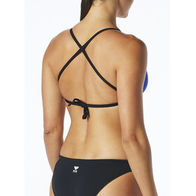 TYR Solid Crosscut Tieback Bikini Top Women royal/black